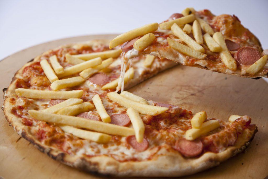 Wurstel e patate mt pizza
