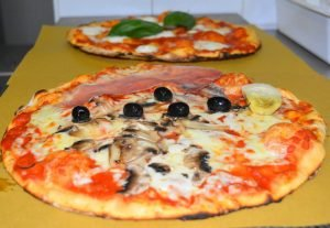 pizza margherita macinata a pietra